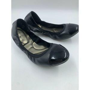Dexflex Comfort Shoes 9 W Wide Ballet Flats Black